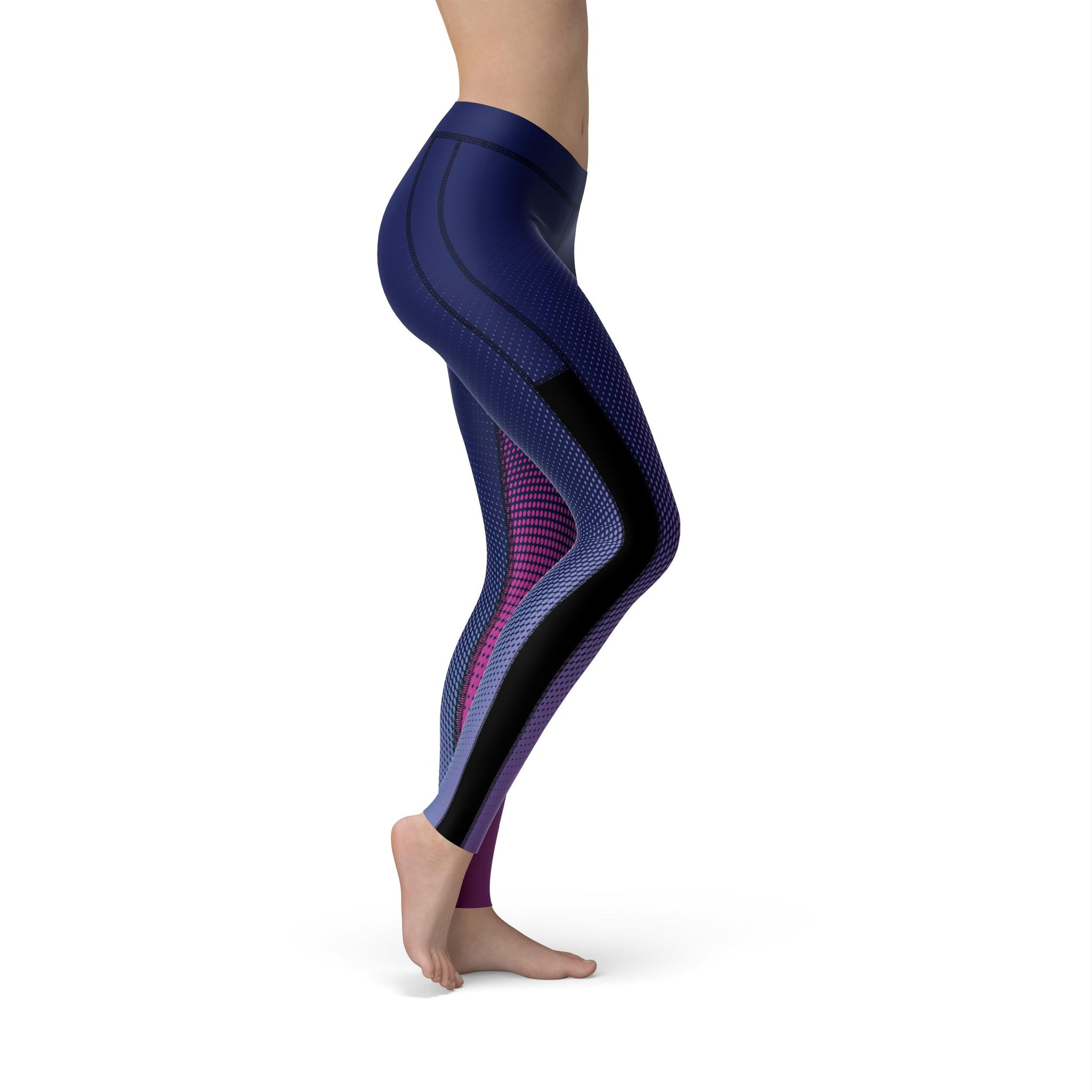 Power Mesh Aura Fusion Blue Legging