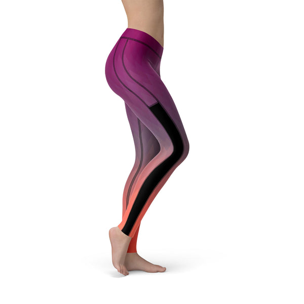 Power Mesh Jewel Fusion Purple Legging