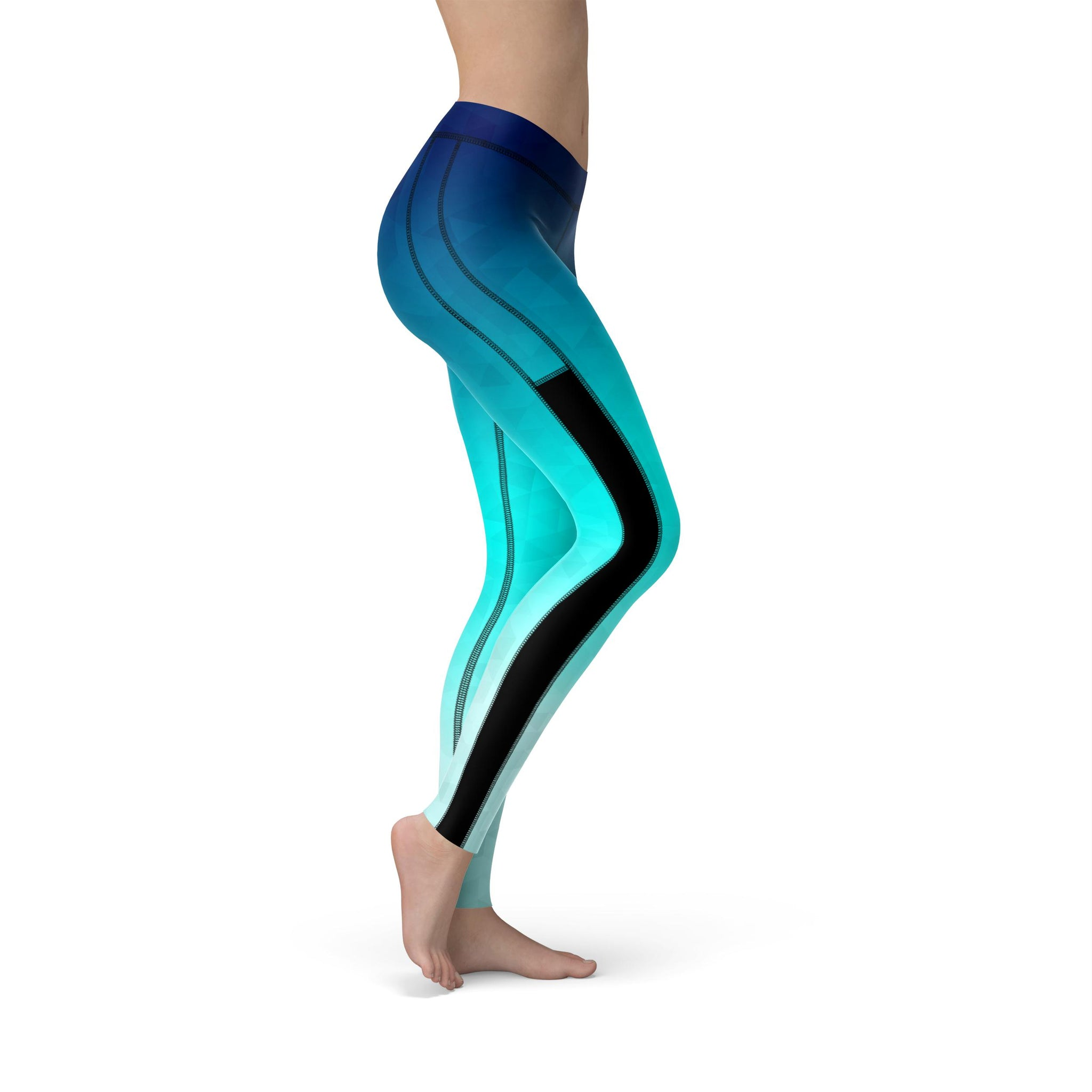 Power Mesh Prism Fusion Blue Legging