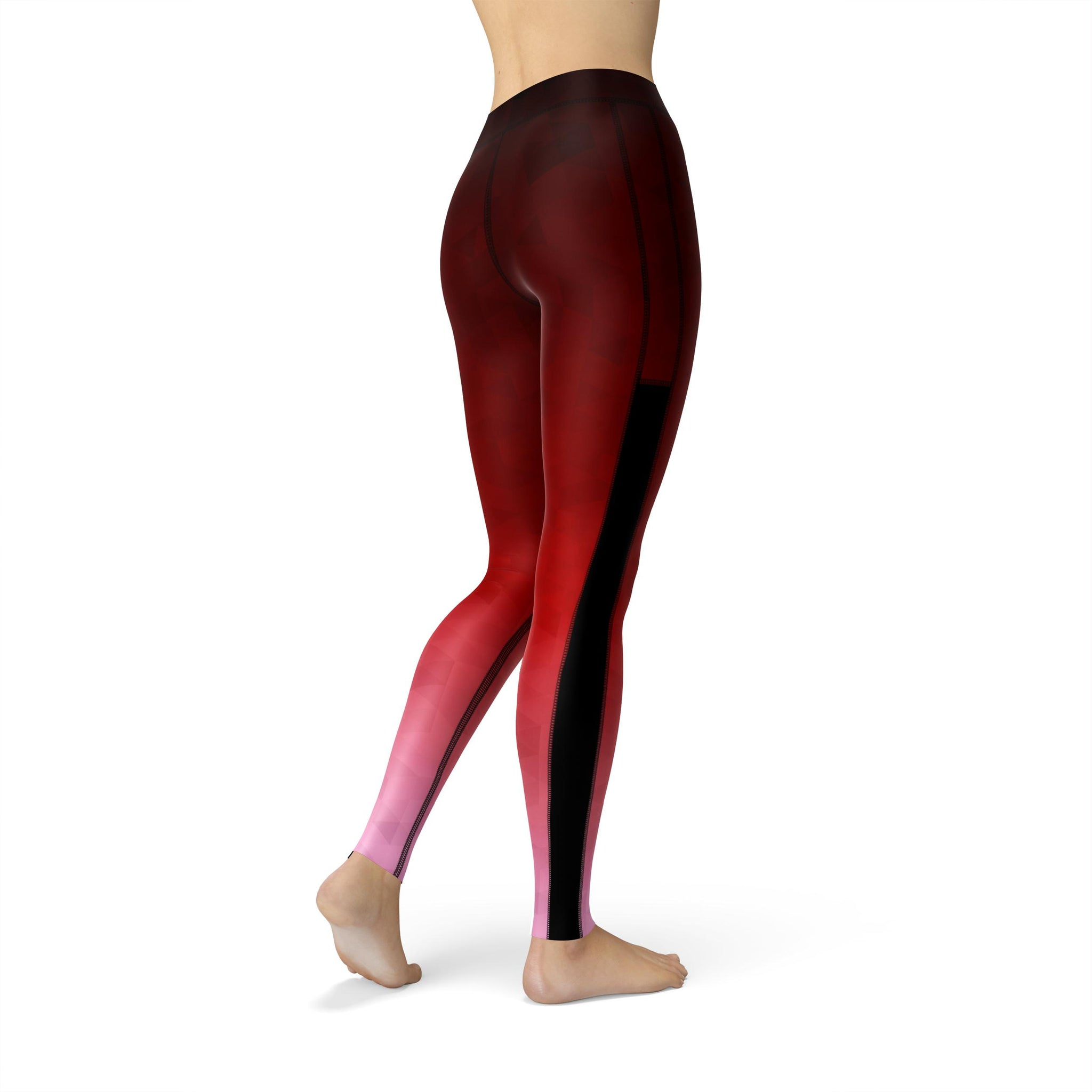 Power Mesh Prism Fusion Red Legging