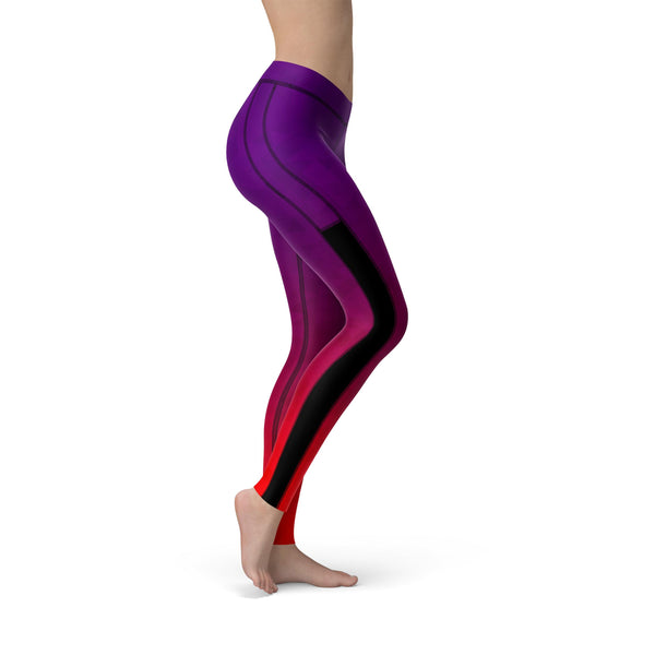 Power Mesh Prism Fusion Purple Legging