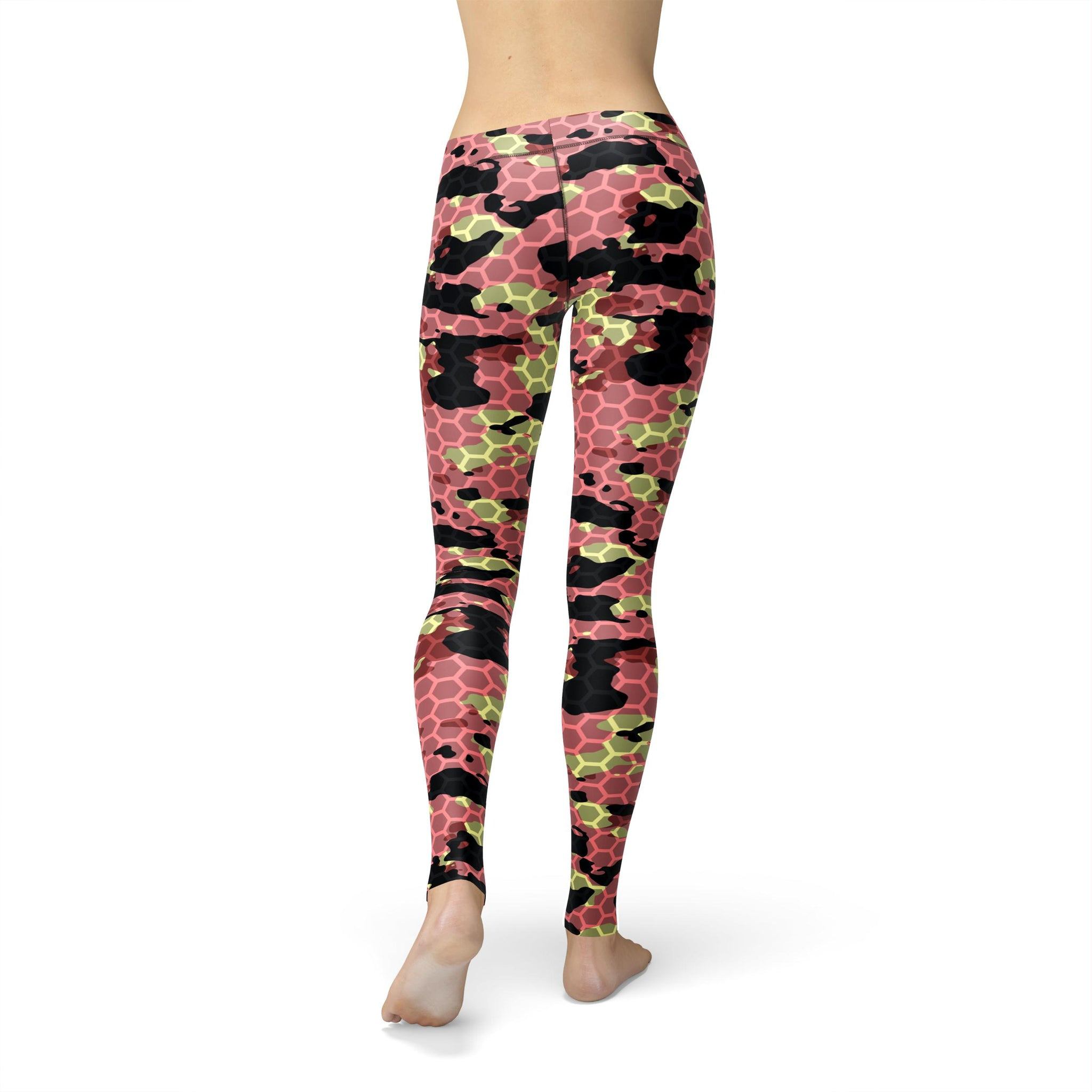 Gentle Mid-Rise Watermelon Rush Camouflage Legging