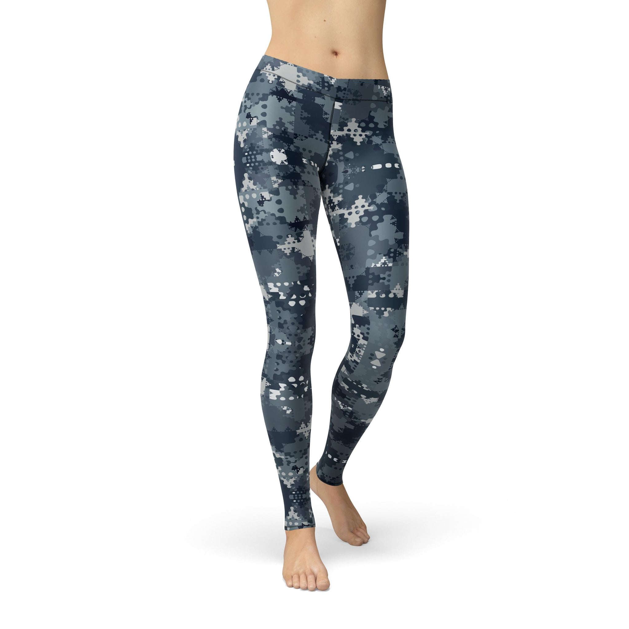 Gentle Mid-Rise Slate Camouflage Legging