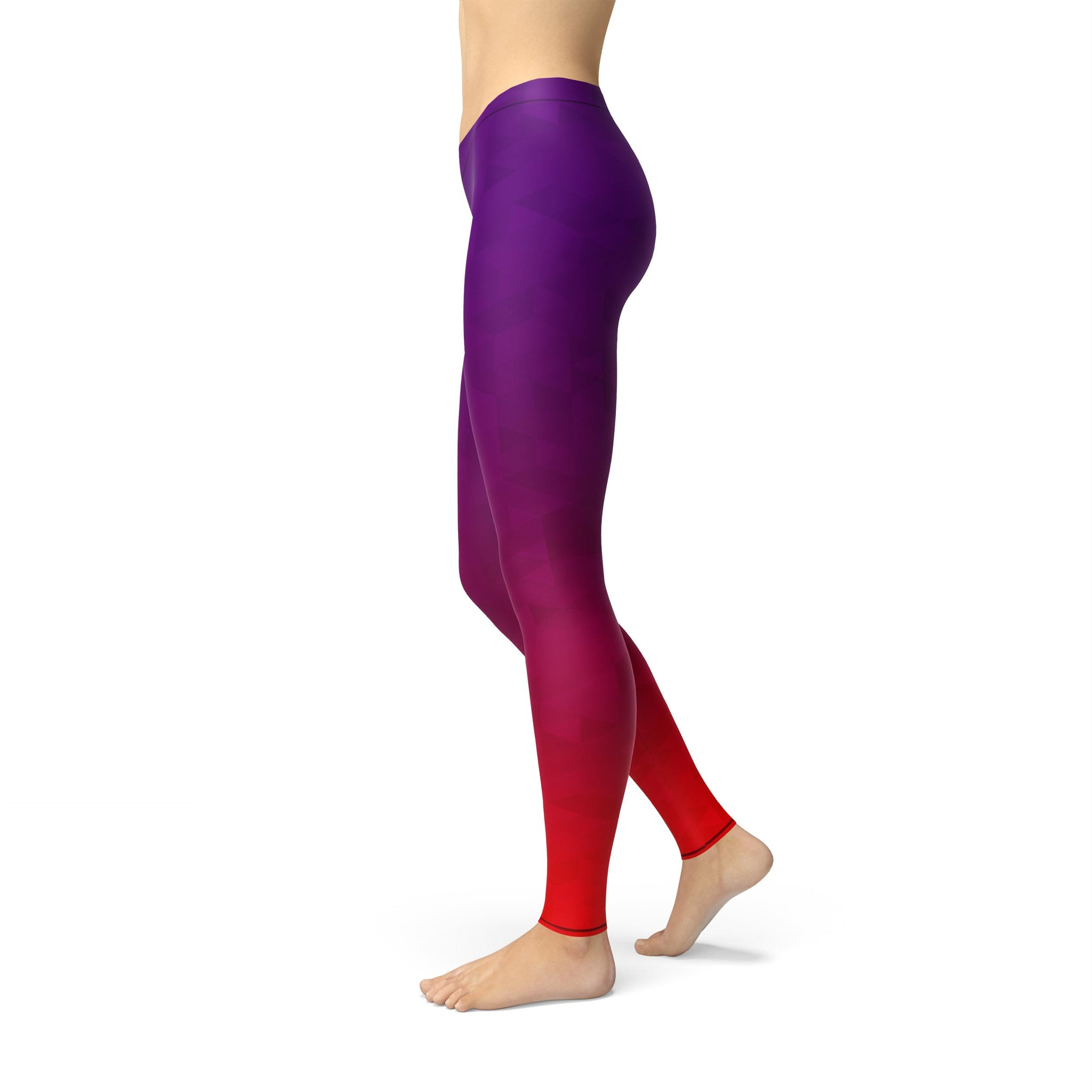Gentle Mid-Rise Prism Fusion Purple Legging