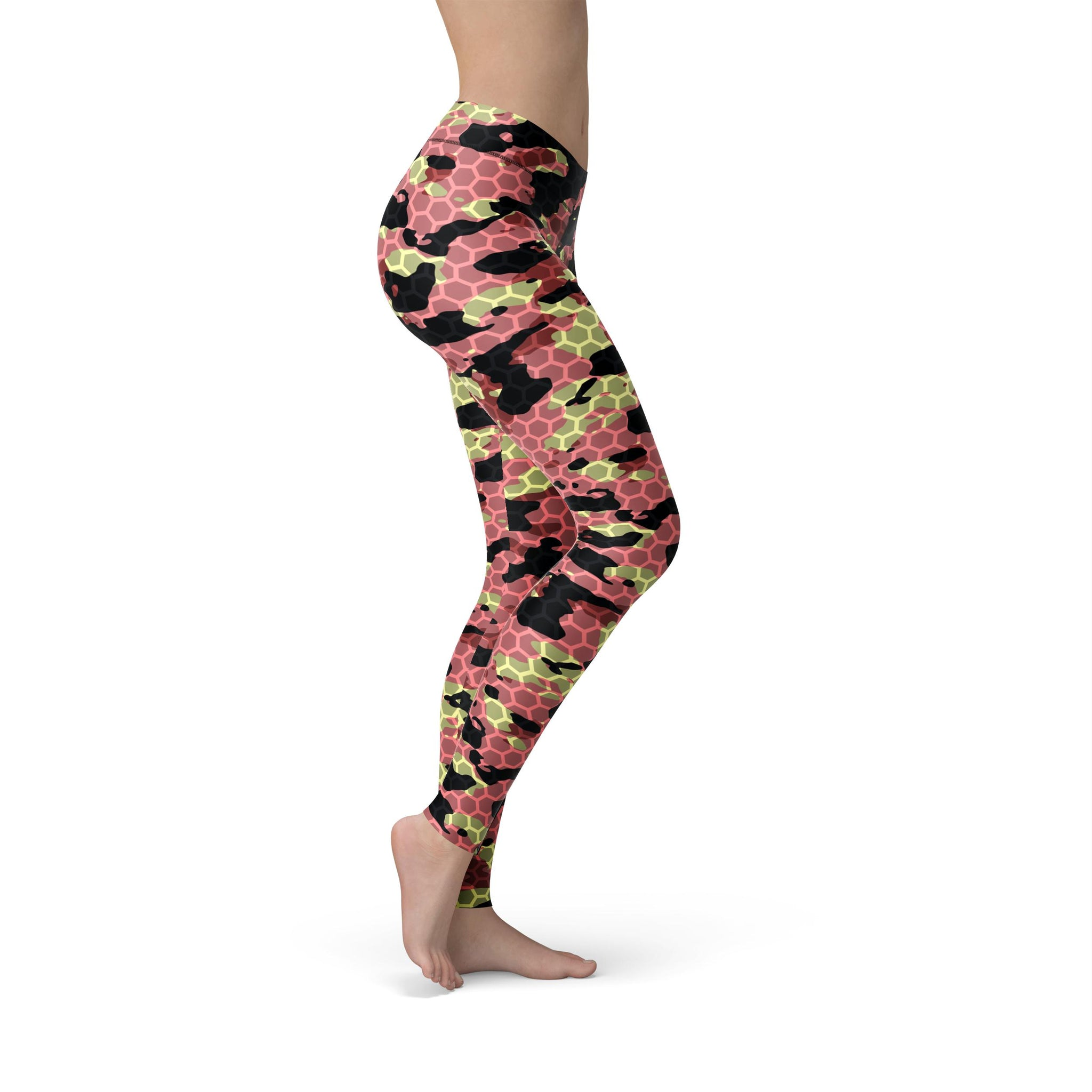 High-Waist Zen Watermelon Rush Camouflage Legging
