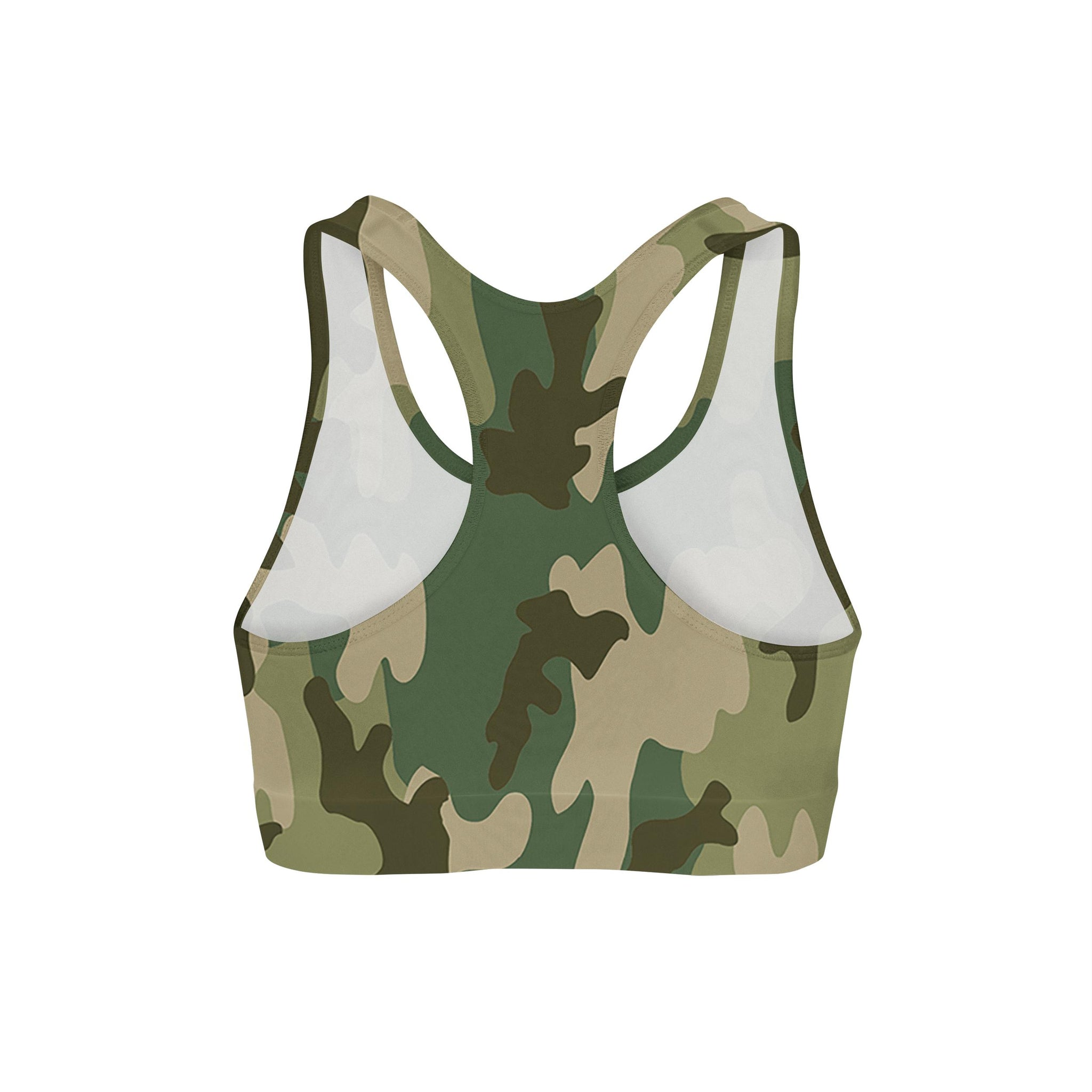 Forest Camouflage Sports Bra