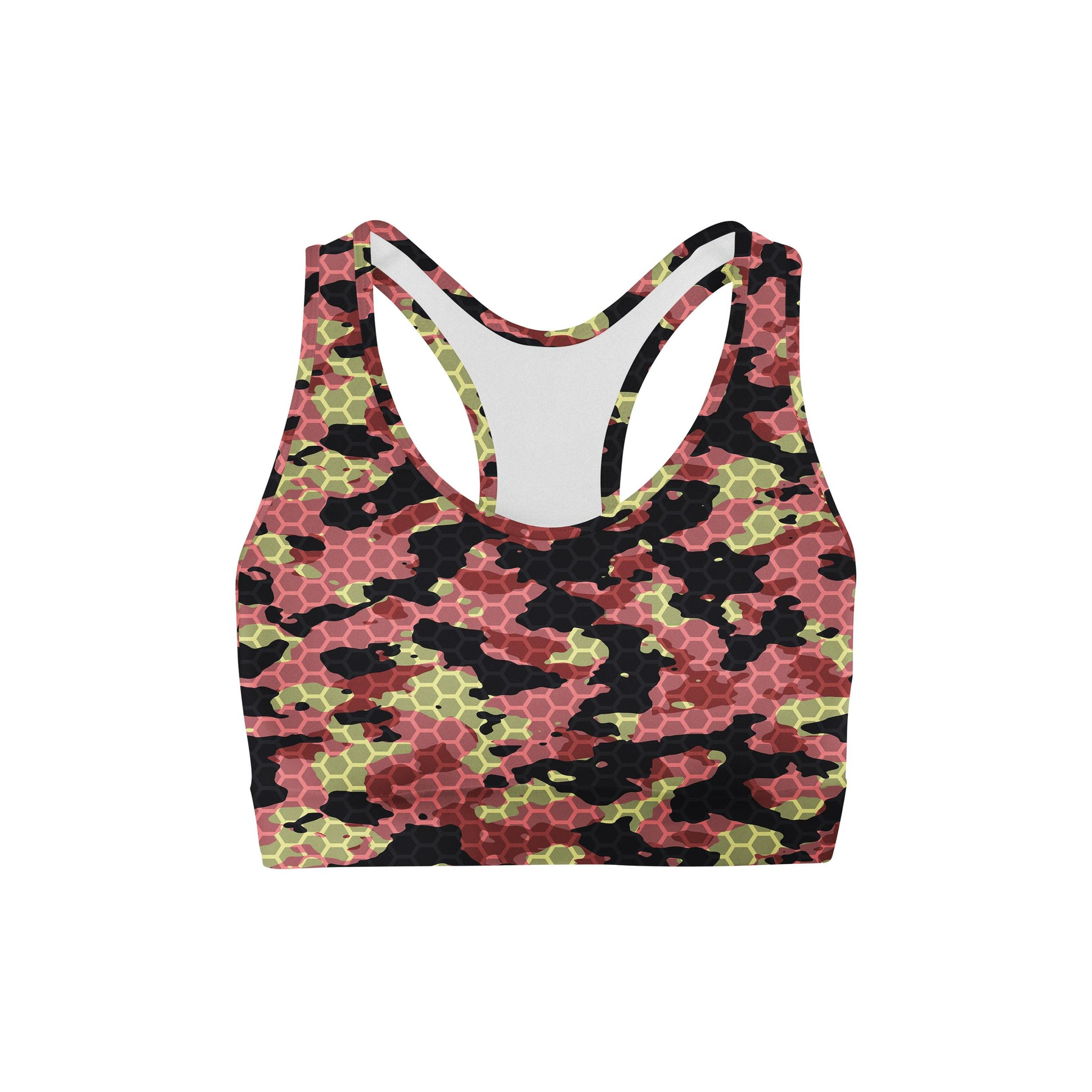 Watermelon Rush Camouflage Sports Bra