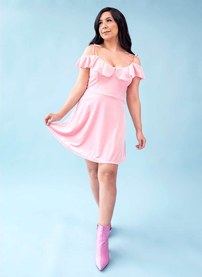 Dancing Petals Mini Dress