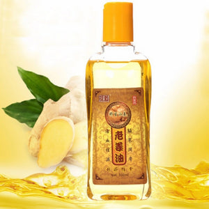 Hot Sale Pure Plant Essential Oil Ginger Body Massage Oil 230ml  Thermal Body Ginger Essential Oil For Scrape Therapy SPA