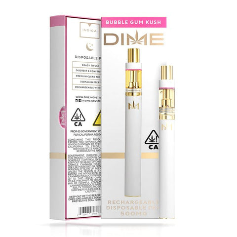 DIME 500mg Disposable - Bubble Gum Kush