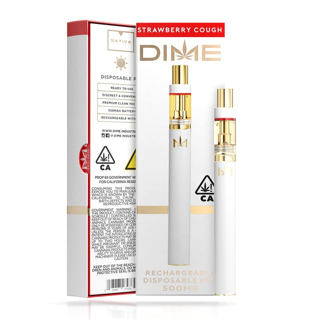 DIME 500mg Disposable - Strawberry Cough