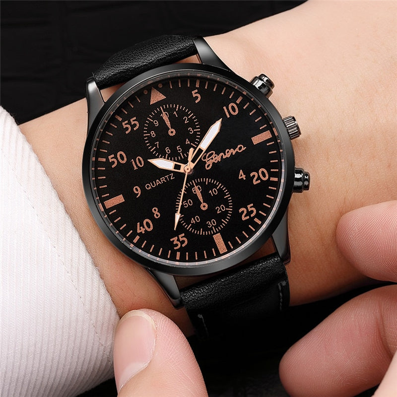 Leather Business Wrist Watch