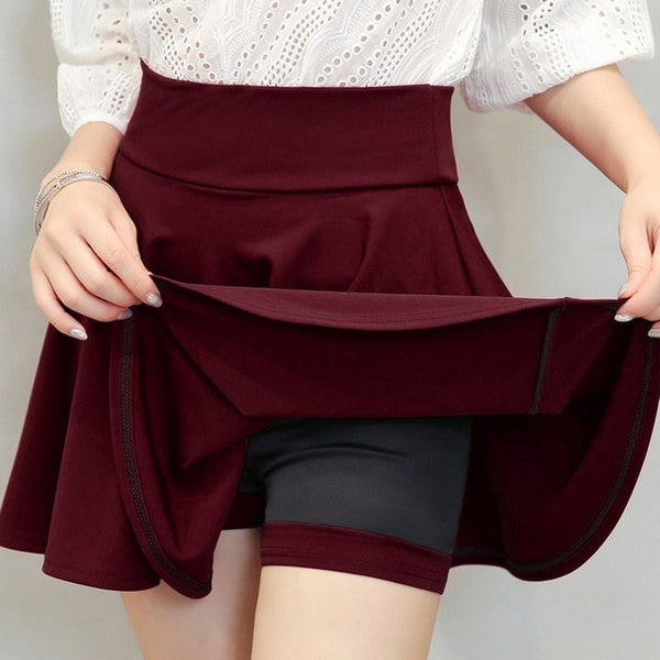 Korean Preppy Style High Waist Pleated Skirt