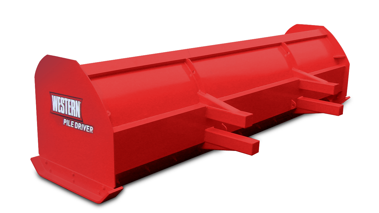 WESTERN® Snowplow, 8' PILE DRIVER™ for Skid-Steer