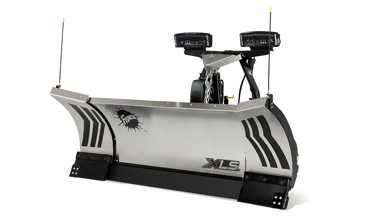 FISHER® Snow Plow, 8'-10' XLS™ Stainless Steel Winged Plow