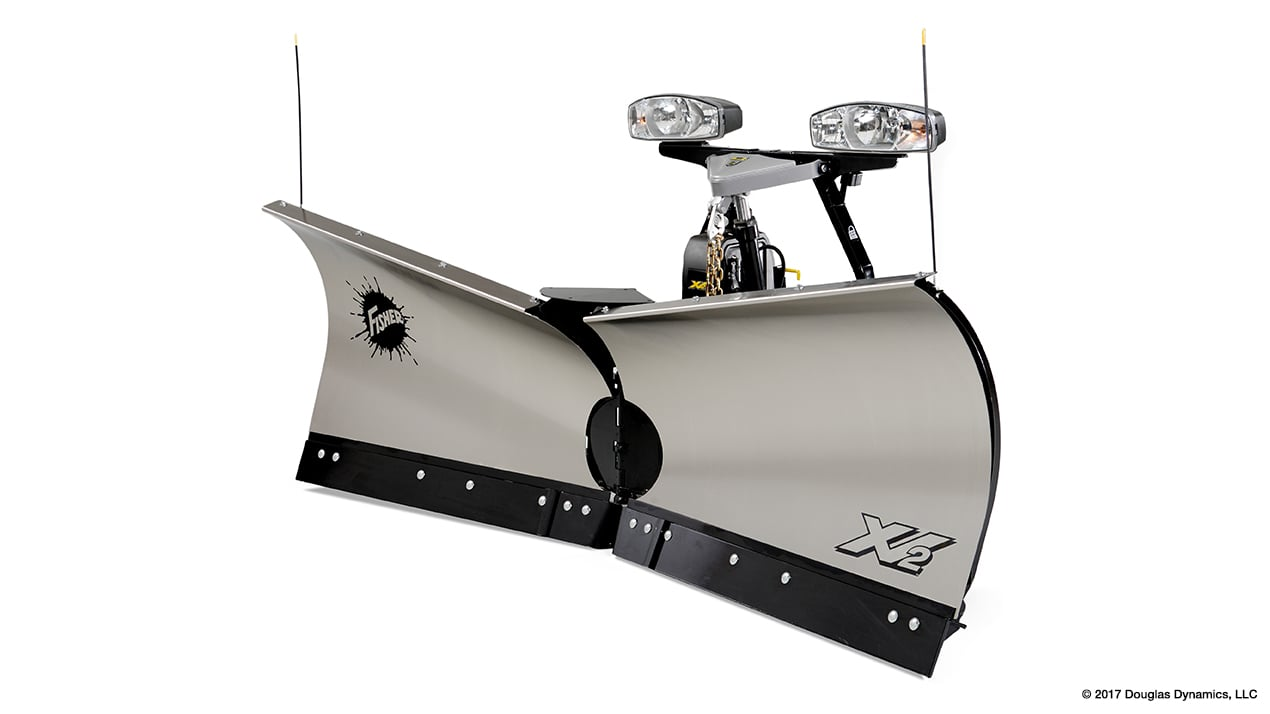 "FISHER® Snow Plow, 10'6"" XV2™ Stainless Steel V-Plow"