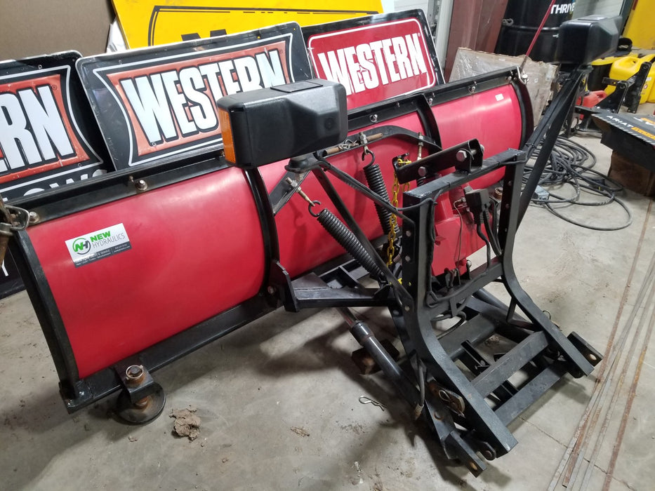 "WESTERN® Snowplow #1909, 7'6"" Standard Poly Straight Blade, Unimount"