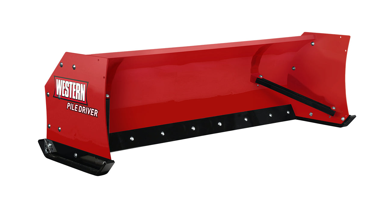 WESTERN® Snowplow, 10' PILE DRIVER™ with Steel Trip Edge