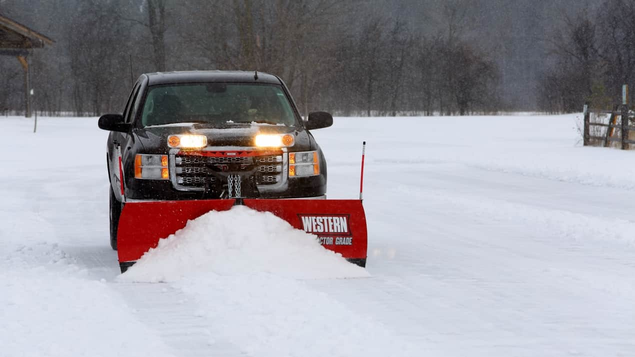 "WESTERN® Snowplow, 8'6"" MVP PLUS™ Poly V-Plow"