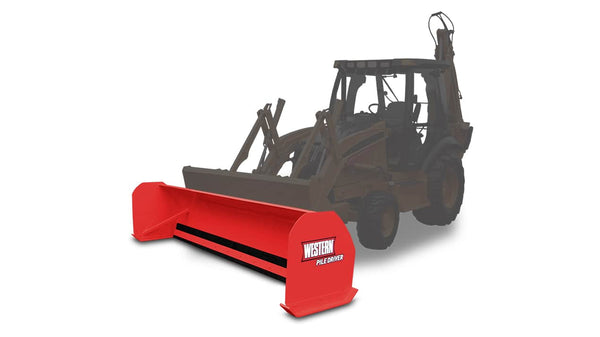 WESTERN® Snowplow, 12' PILE DRIVER™ for Backhoe
