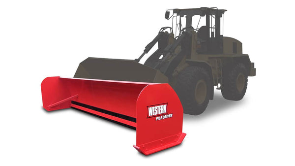 WESTERN® Snowplow, 12' PILE DRIVER™ for Wheel Loader
