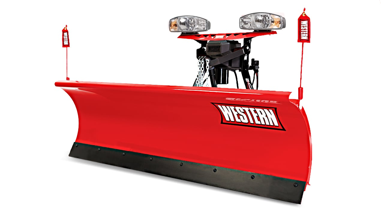 WESTERN® Snowplow, 8' PRO-PLOW® Series 2 Poly Straight Blade