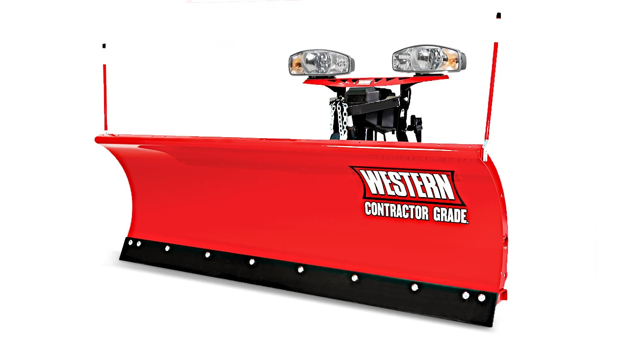 WESTERN® Snowplow, 8' PRO PLUS® Straight Blade