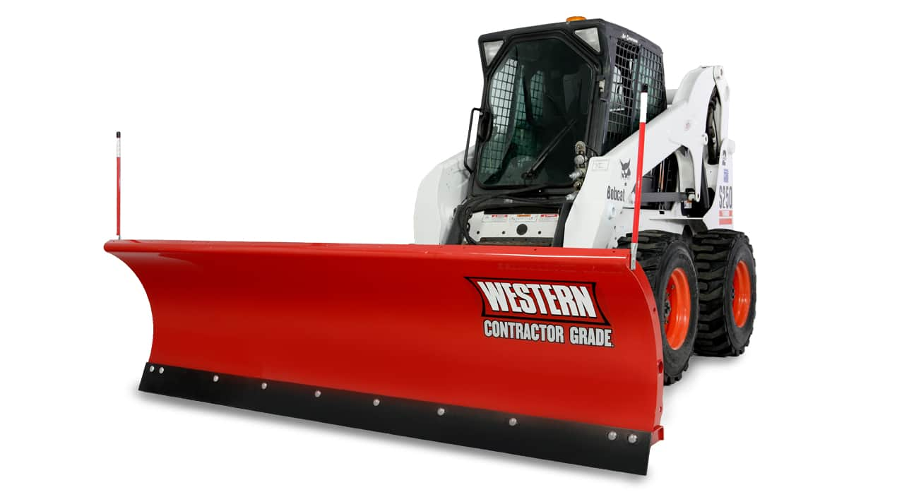 WESTERN® Snowplow, 9' PRO PLUS® Oscillating Skid-Steer Attachment