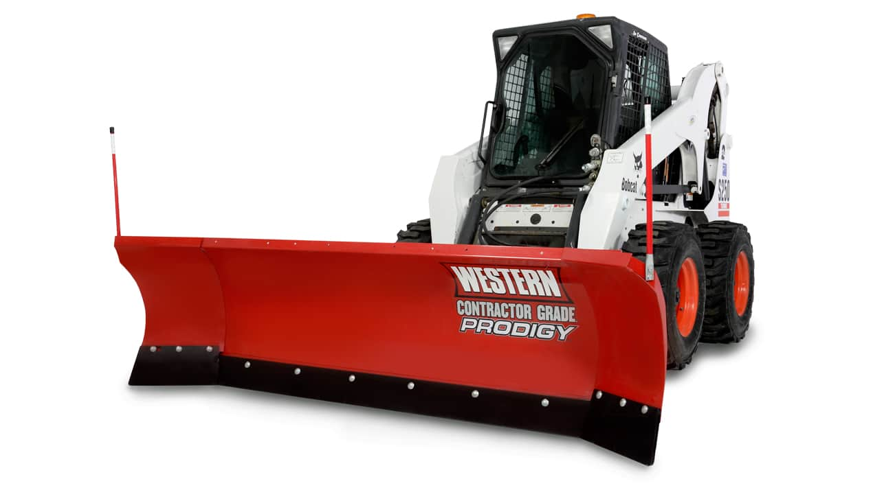 "WESTERN® Snowplow, 8'6"" PRODIGY™ Winged Plow Oscillating Skid-Steer Attachment"
