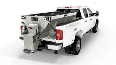WESTERN® Spreader, 10' 4.5 cu yd Striker™ Stainless Steel Hopper Spreader with Honda Motor