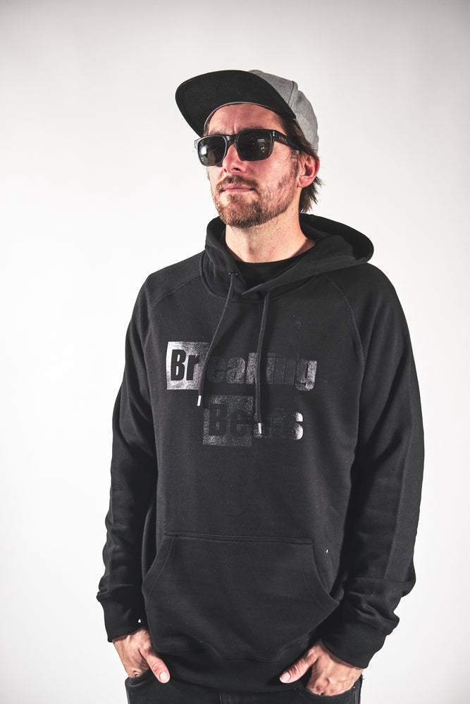 Breaking Beats OG Hoodie - Black on Black (Pull Over)