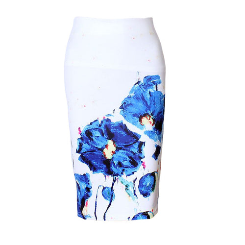 ORMELL Floral Print Pencil