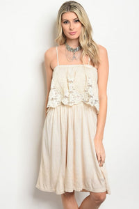 Tan Spaghetti Strap Dress