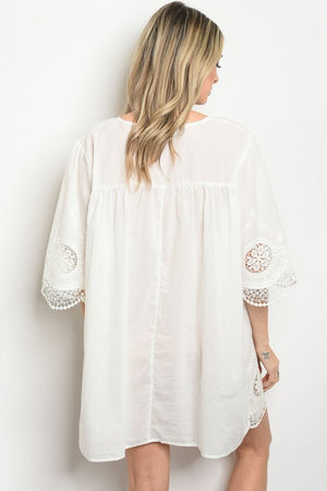 Off White Cover-Up Dress