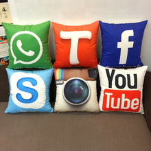 Social Media Logo Throw Pillow - The Trove Shop