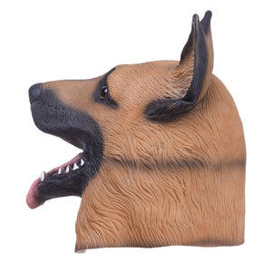Costume Party Latex Dog Head Mask (German Shepherd) - The Trove Shop