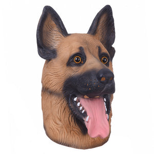 Costume Party Latex Dog Head Mask (German Shepherd)