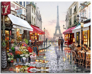 A Walk In Paris DIY Painting By Numbers Wall Art Home Decor For Living Room - The Trove Shop