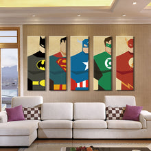 5 Pieces Superhero Canvas Print Wall Art (Unframed) - The Trove Shop