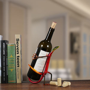 """Gecko"" Wine Bottle Holder Iron Figurine - The Trove Shop"
