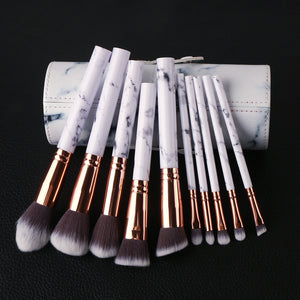 10pcs Women's Professional Soft Makeup Brush Set Kit - The Trove Shop
