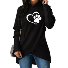 Women's Doggie Paw & Heart Hoodie - The Trove Shop