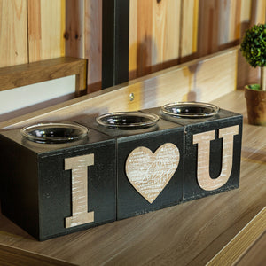 Block Wood Candle Holders For Home Decor - The Trove Shop
