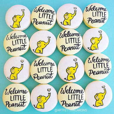 Welcome Little Peanut Macarons