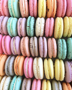 Chocolate Strawberry Macarons