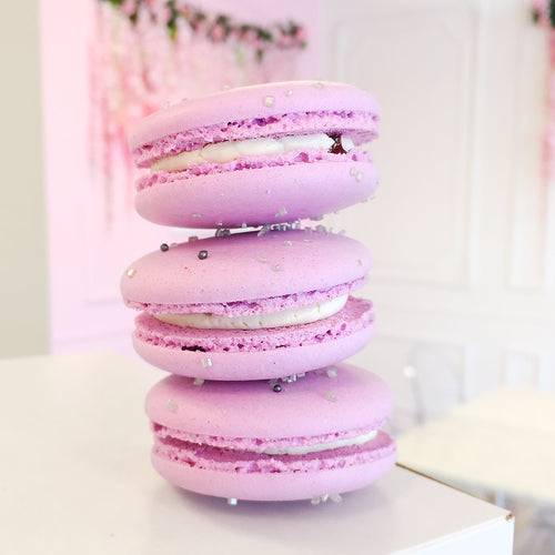 Blackberry Champagne Macarons