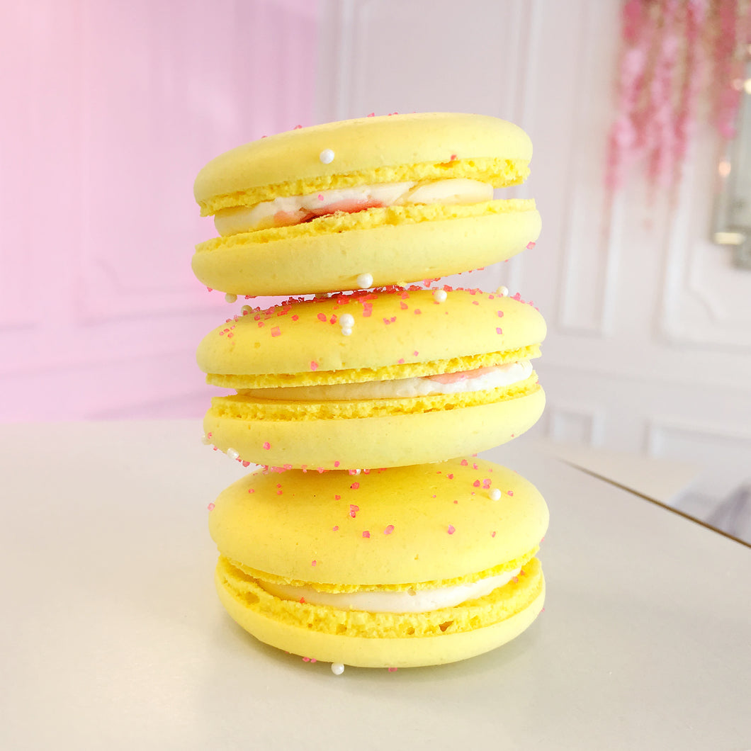 Lemon Raspberry Macarons