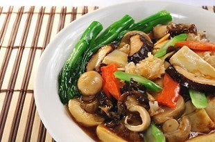 羅漢扒豆腐 BRAISED ASSORTED MUSHROOMS & BEAN CURD
