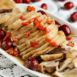 Chicken with House Special Chinese Wine 香露醉雞 Whole - Katering 點點到會