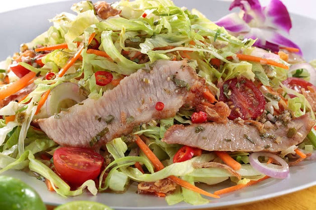 Marinated Pork Jowl Salad with Lime and Thai Herb Dressing 泰式醃豬頸肉沙律 2lbs - Katering 點點到會